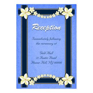 Rustic Blue Wedding Reception Enclosure Cards Business Card