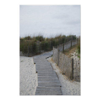 Rustic Boardwalk to Beach Poster