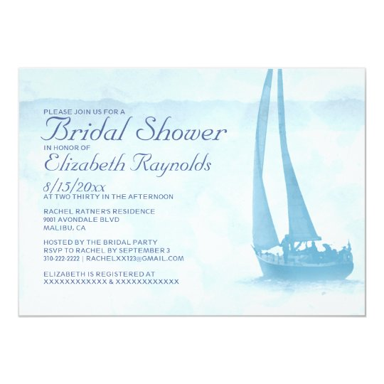 Rustic Boat Bridal Shower Invitations