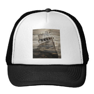 Rustic Boat On Shore Hats