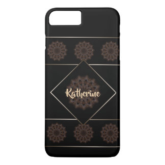 Rustic Boho Floral Mandala Monogram iPhone 8 Plus/7 Plus Case