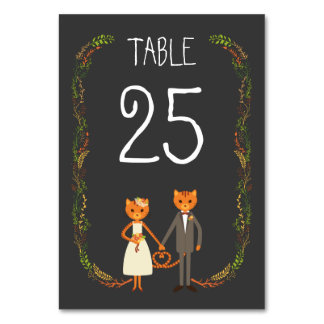 Rustic Boho Forest Cats Wedding Invitation Card