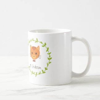 Rustic Boho Forest Cats Wedding Invitation Coffee Mug