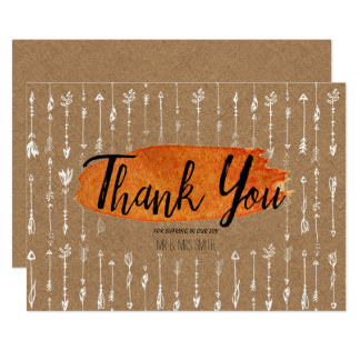 Rustic Boho Thank You Card
