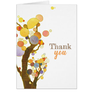 Rustic Boho Trees Thank You Blank Card