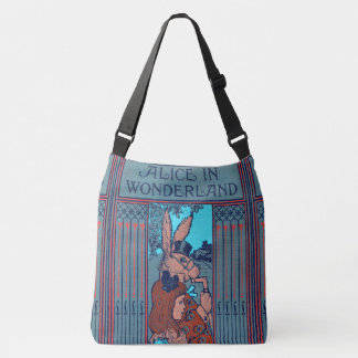 Rustic Book Cover Bags Alice And The Rabbit