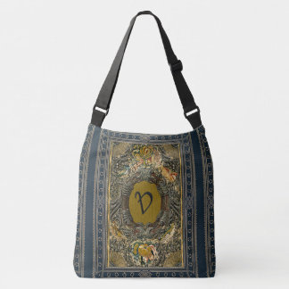 Rustic Book Cover Bags Embroidered Monogram