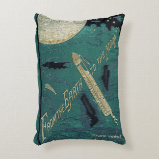 Rustic Book Cover Cushions Jules Verne