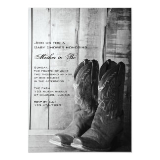 Rustic Boots Country Baby Shower Invitation