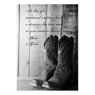 Rustic Boots Country Wedding Charity Favor Card Business Card