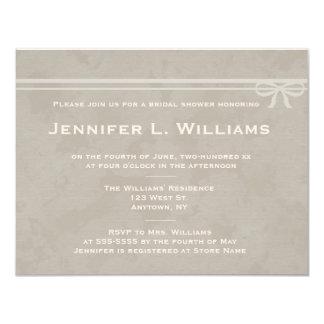 Rustic bow bridal shower invitations