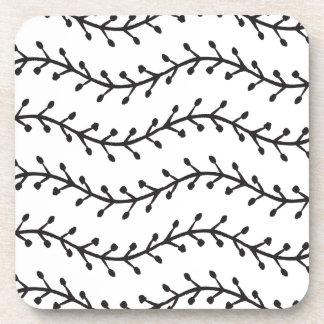 Rustic Branch Pattern Coaster