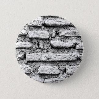 Rustic brickwall 6 cm round badge