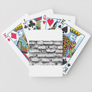 Rustic brickwall bicycle playing cards