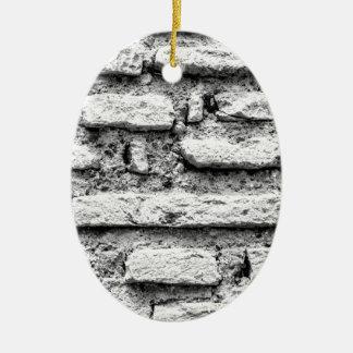 Rustic brickwall ceramic ornament