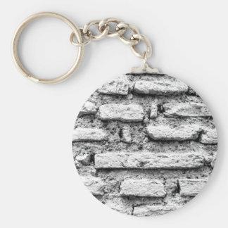 Rustic brickwall key ring