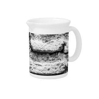 Rustic brickwall pitcher