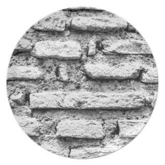 Rustic brickwall plate