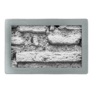 Rustic brickwall rectangular belt buckles