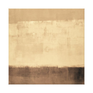 'Rustic' Brown Abstract Art Canvas Print