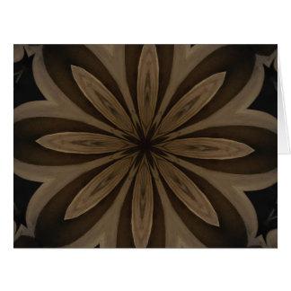 Rustic Brown Flower Kaleidoscope Design Card