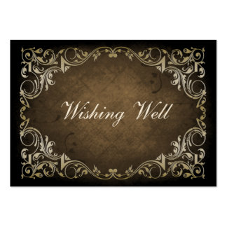 rustic brown regal wishing well cards pack of chubby business cards