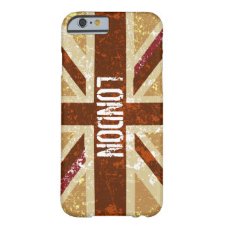 Rustic, Brown Union Jack Barely There iPhone 6 Case