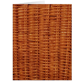 Rustic Brown Wicker Picnic Basket Country Style Card