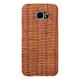Rustic Brown Wicker Picnic Basket Country Style Samsung Galaxy S6 Cases