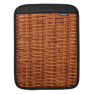 Rustic Brown Wicker Picnic Basket Country Style Sleeve For iPads