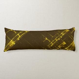 Rustic Brown Yellow Geometric Batik Weave Modern Body Cushion