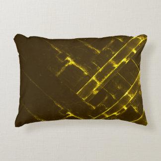 Rustic Brown Yellow Geometric Batik Weave Modern Decorative Cushion
