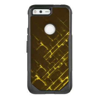 Rustic Brown Yellow Geometric Batik Weave Modern OtterBox Commuter Google Pixel Case