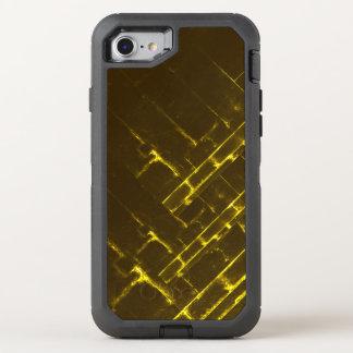 Rustic Brown Yellow Geometric Batik Weave Modern OtterBox Defender iPhone 8/7 Case
