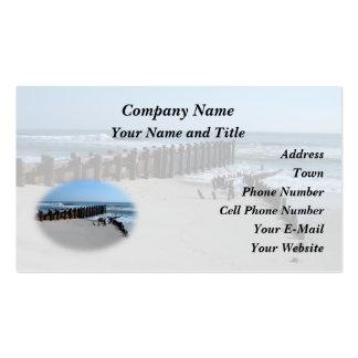 Rustic Bulkhead on Beach Business Cards