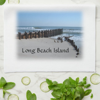 Rustic Bulkhead on Beach Tea Towel