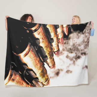 Rustic Bullets Grunge Automatic Weapon Art Fleece Blanket