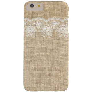 Rustic Burlap and Lace Bride Barely There iPhone 6 Plus Case