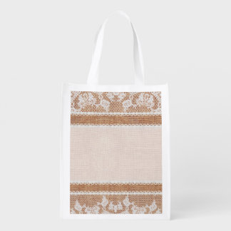 Rustic Burlap and Lace Image