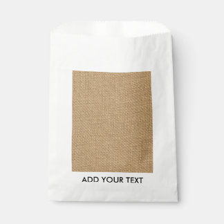 Rustic Burlap Background Printed Favour Bags