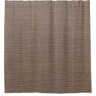 Rustic Burlap Basket Weave Pattern Shower Curtains