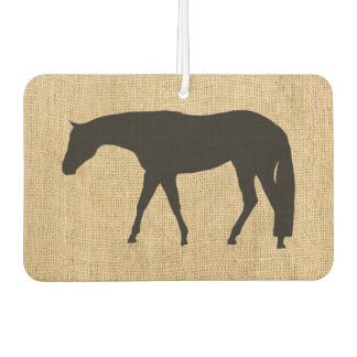 Rustic Burlap Black Western Pleasure Horse Car Air Freshener