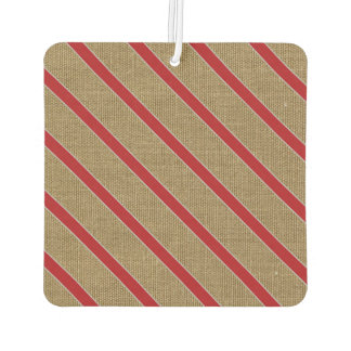 Rustic Burlap Candy Cane Car Air Freshener
