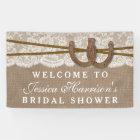 Rustic Burlap & Lace Horseshoe Bridal Shower Banner