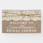 Rustic Burlap, Lace & Twine Bow Bridal Shower Banner