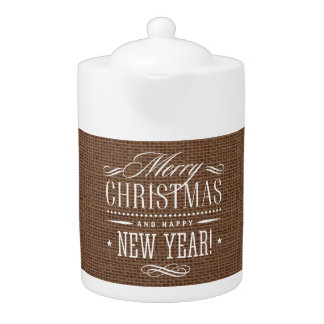 Rustic Burlap Merry Christmas Decor