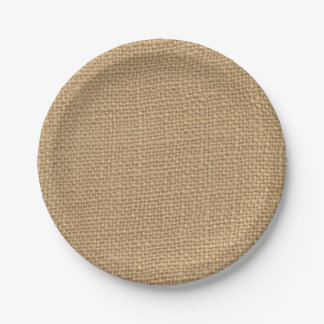 Rustic Burlap Paper Plates