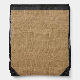 Rustic Burlap Texture Drawstring Bags