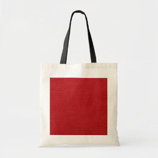 Rustic Burlap Texture Red Canvas Bag
