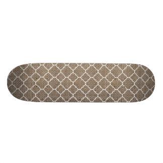 Rustic Burlap Texture Skateboard Decks
